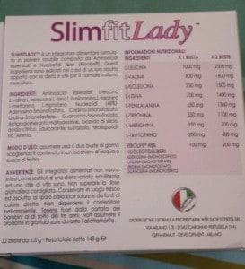 ingredienti slimfitlady